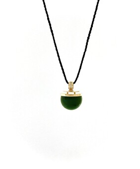 18CT Gold & New Zealand Jade (Pounamu) Pendant