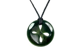 New Zealand Pounamu (Jade) Mobius Pendant