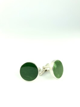 New Zealand Jade (Pounamu) Cuff links