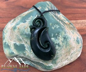 New Zealand Pounamu (Jade) Manaia